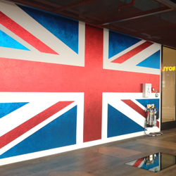 Union Flag in Google's Reception Area